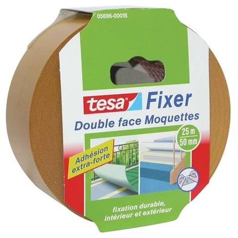 Double-face xtra fort sols moquettes et PVC tesa® - Longueur 25 m - Largeur 50 mm