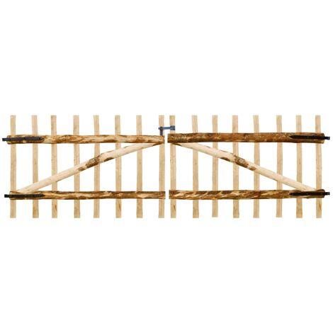 Double Fence Gate Hazel Wood 300x100 cm - Beige