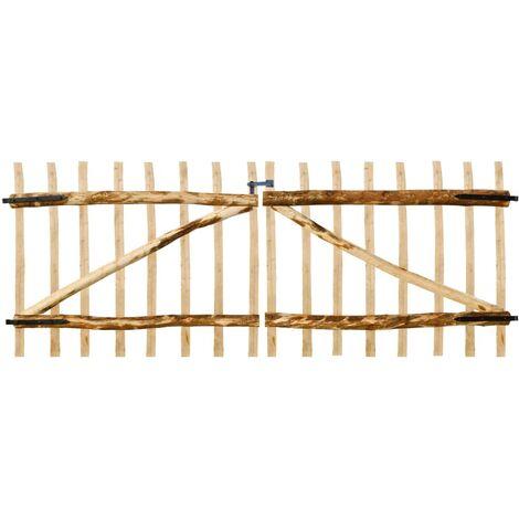 Double Fence Gate Hazel Wood 300x120 cm - Beige