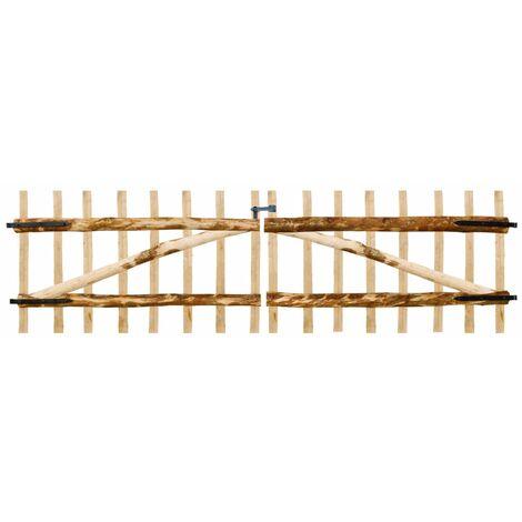 Double Fence Gate Hazel Wood 300x90 cm