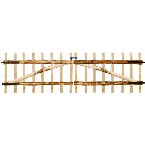 Double Fence Gate Hazel Wood 300x90 cm - Beige