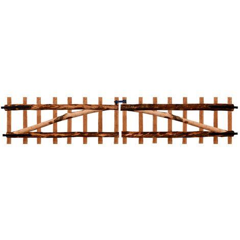 Double Fence Gate Impregnated Hazel Wood 300x60 cm