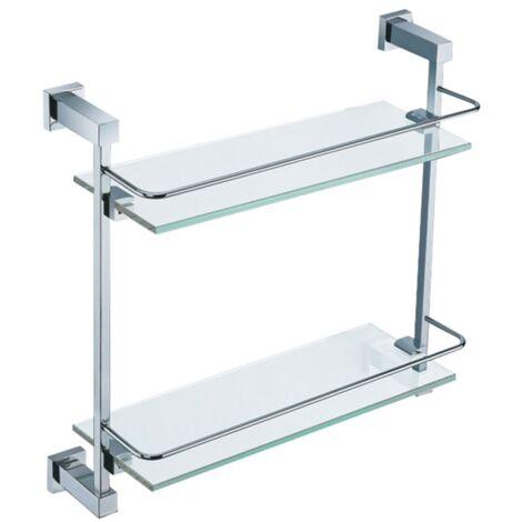 Double Glass Shelf - Chrome