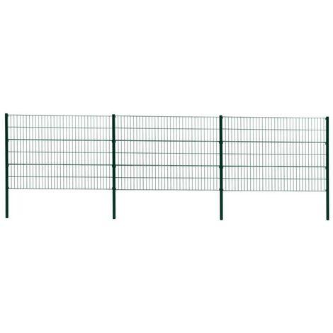 Double grillage de clôture de grillage 120cm RAL 6005 clôture de jardin