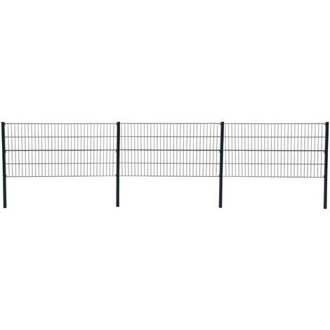 Double grillage de clôture de grillage 80 cm RAL 7016 clôture de jardin