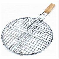 Double grille barbecue ronde - D 40 x H 66 cm - Métal chromé
