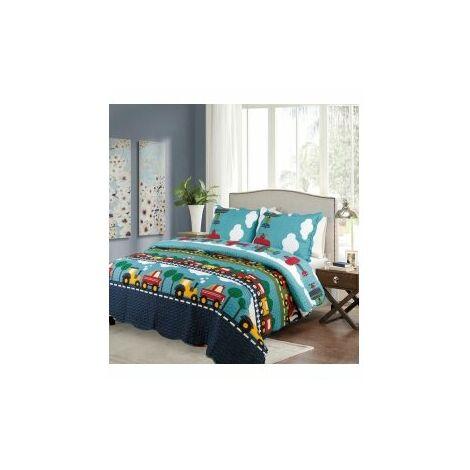 (Double) HomeSpace Transport Kids Bedding Bedspread