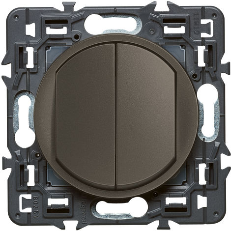 Double interrupteur ou va-et-vient Céliane Soft 10A Graphite (099527)