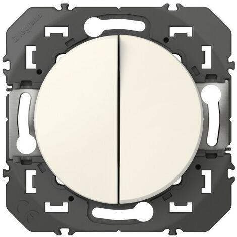 Double Interrupteur ou va-et-vient Dooxie - 10A - 250V - Blanc - Legrand