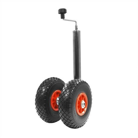 Double jockey wheel 48mm 2x plastic rim with PU tyre 260x85mm