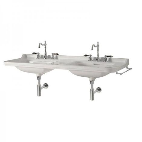 Double lavabo céramique Waldorf 150 cm monotrou - Ondyna WD15055