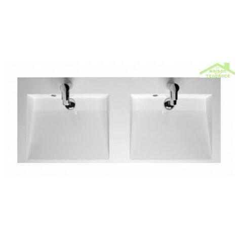Double lavabo RIHO ELZAS en céramique 120x51 cm