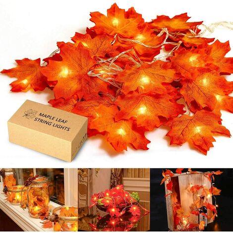 Double Maple Leaf Light Holiday Light LED Maple Sheet Chain Light White Light White LED Inner LED 2m20 Light
