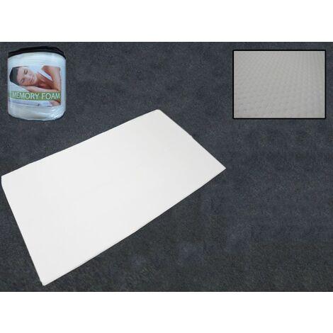 Double Memory Foam Mattress Topper (Back Pain Caravan Motorhome Bed)