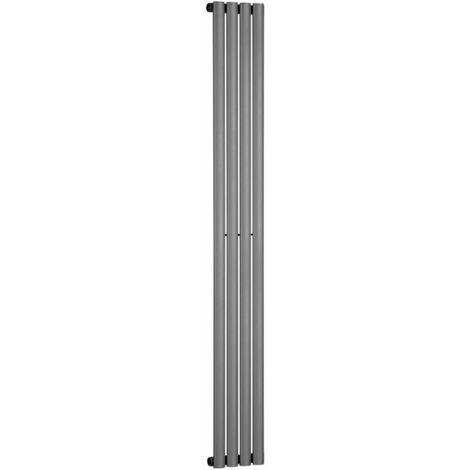 Double Oval Tube 1800 x 240 Anthracite Central Heating Designer Column Radiator