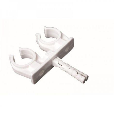 Double pipe clip fi 14-15 mm 10 pcs copper
