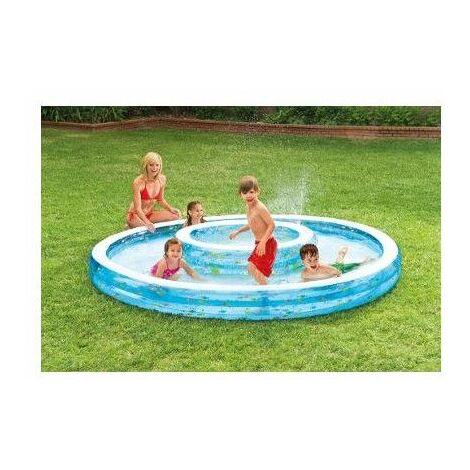 Double piscine fontaine - 279 x 36 cm - Livraison gratuite