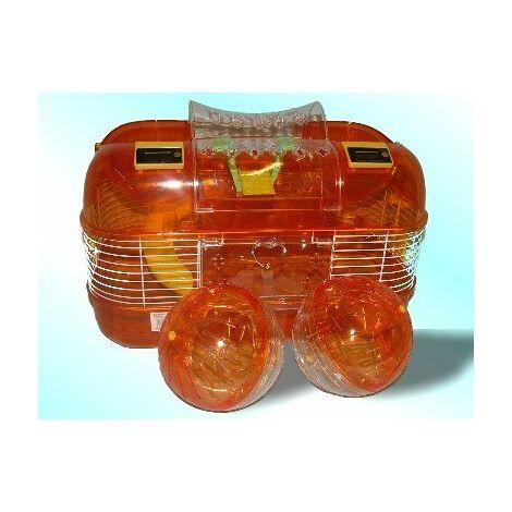 Double Play Sonde de l'espace de roue Cage pour hamster – Ambre