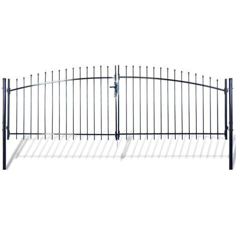 Double portail avec haut sous forme de lance 400 x 175 cm