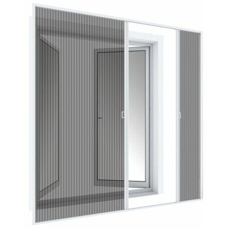 Double porte plissée basculante 240x240 cm, blanc