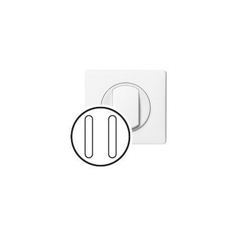 Double Poussoir Etroit blanc Legrand celiane