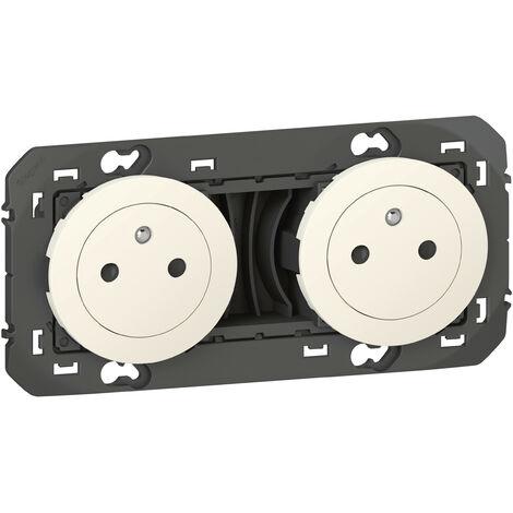 Double prise de courant 2P+T Surface Dooxie Blanc ou Alu / Legrand