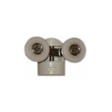 Double roulette ROU12-A pour verre 6mm L.58mm