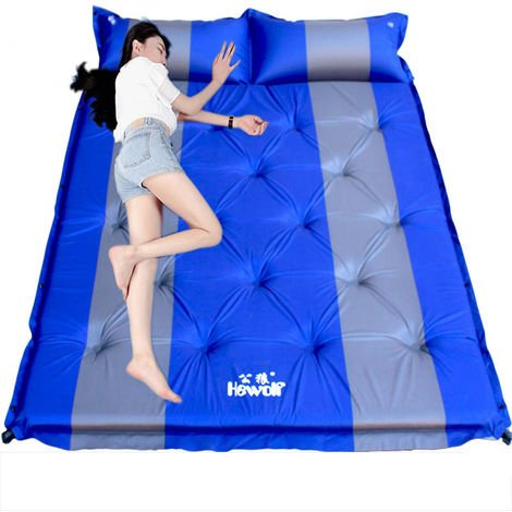 Double Self-Inflating Cushion Mattress Sleeping Cushion Air Mattress Hiking Bed