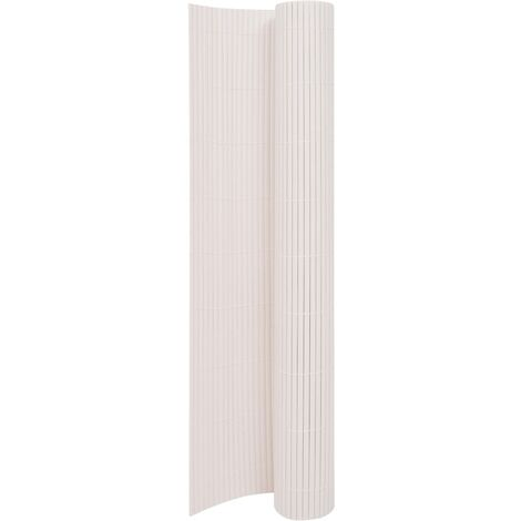 Double-Sided Garden Fence 170x300 cm White