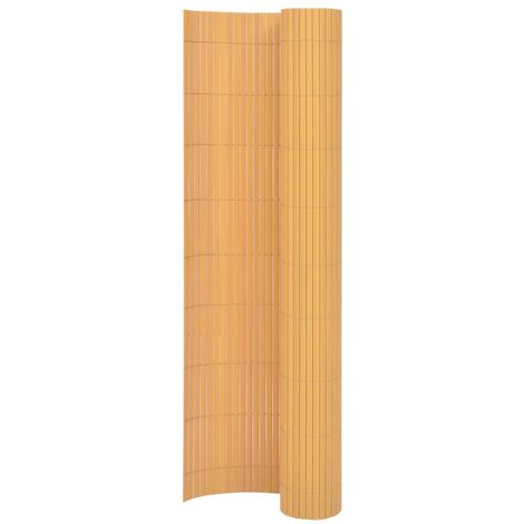 Double-Sided Garden Fence 170x300 cm Yellow