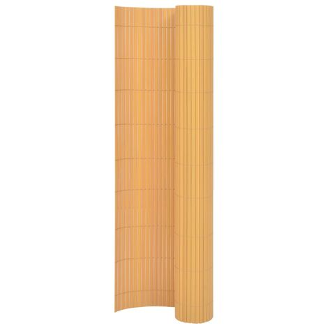 Double-Sided Garden Fence 170x500 cm Yellow