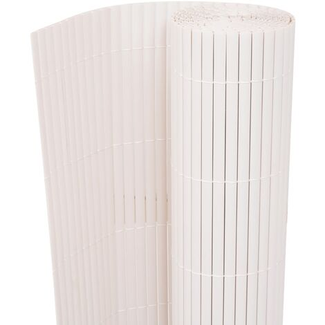 Double-Sided Garden Fence 90x300 cm White