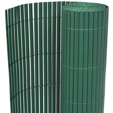 Double-Sided Garden Fence PVC 150x500 cm Green