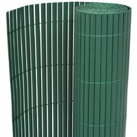 Double-Sided Garden Fence PVC 195x500 cm Green