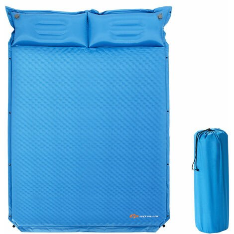 Double Size Self Inflating Pillow Camping Mat Inflatable Roll Mattress With Bag