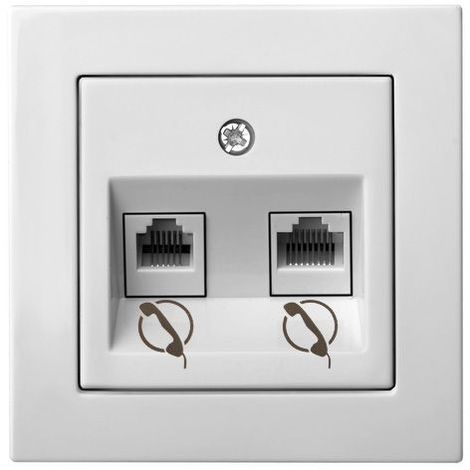 Double Telephone Plug Frameless