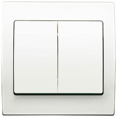 Double Va et Vient Blanc Delta Iris + Plaque basic Blanc - SIEMENS