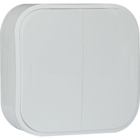 Double va-et-vient saillie Profil Eco - Blanc