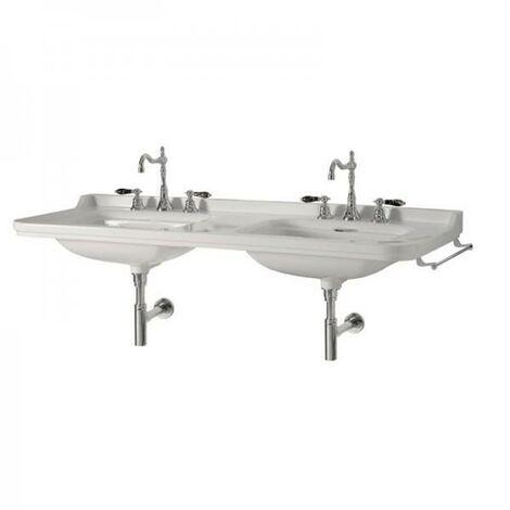 Double-vasque Rétro WALDORF en céramique