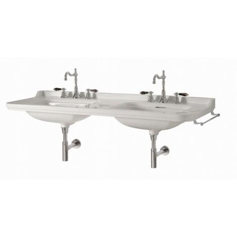 Double-vasque Rétro WALDORF en céramique - Monotrou