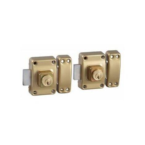 Double verrou de securite 2 verrous pour porte Cylindre 45 mm 4 cles Bricard