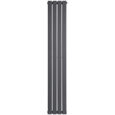 Double Vertical Designer Central Flat Heating Radiator Panel 1600mm Grey