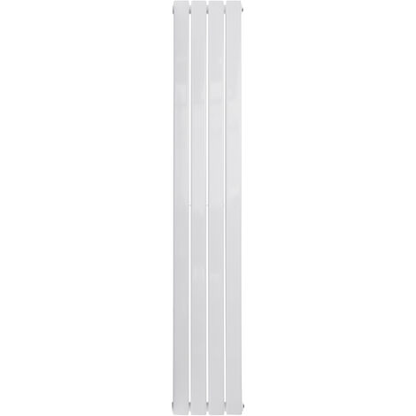 Double Vertical Designer Central Flat Heating Radiator Panel 1600mm White