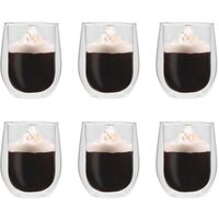 Double Wall Thermo Glass for Espresso Coffee 6 pcs 320 ml