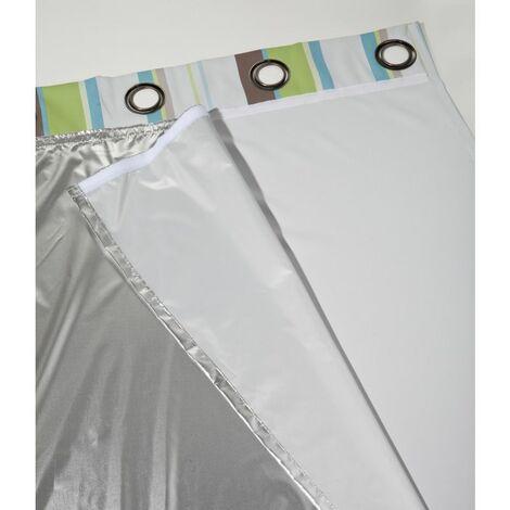 Doublure thermique été Refresh Moondream Aluminium en 135 x 240 (LxH), finition Bande scratch