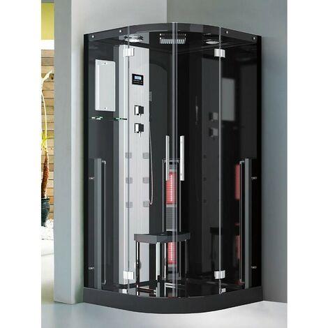 Douche Boreal® INFRASTEAM 100C angulaire 100x100 - hammam + infrarouge