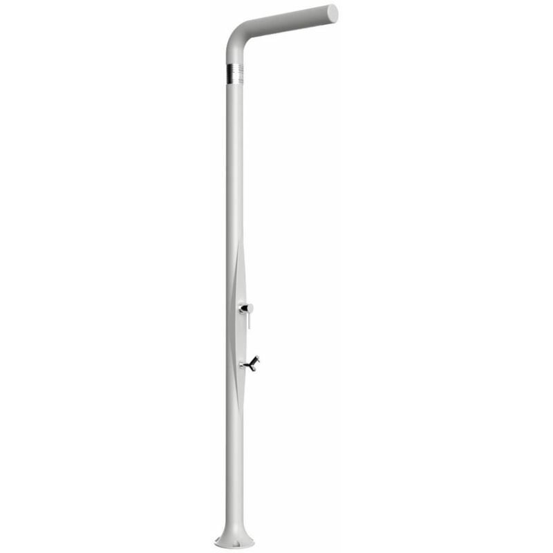 Douche avec Rince Pieds Funny Yang Blanc cm 17x17x210 ARKEMA DESIGN - prodotto made in Italy CV-T225/9003