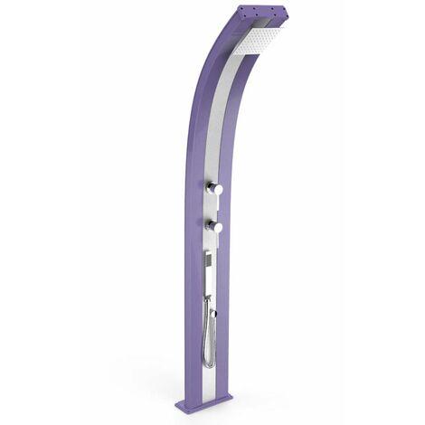 Douche Dada en aluminium violet et inox cm 34x14x226 ARKEMA DESIGN - prodotto made in Italy CV-D340/4005-I