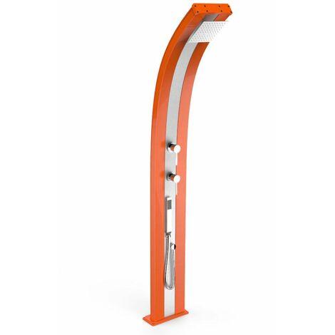 Douche Dada orange et inox avec douchett cm 34x14x226 ARKEMA DESIGN - prodotto made in Italy CV-D340/2009-I