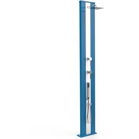 Douche Dada S bleue et inox avec douchet cm 34x14x229 ARKEMA DESIGN - prodotto made in Italy CV-D440/5012-I